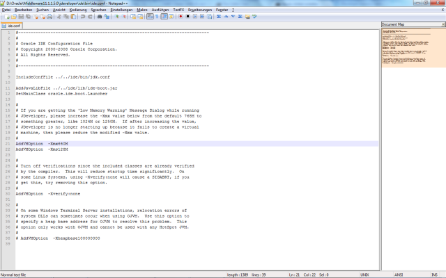 JDeveloper IDE configuration
