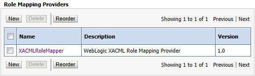 WebLogic Server default Role Mapping Provider: XACMLRoleMapper