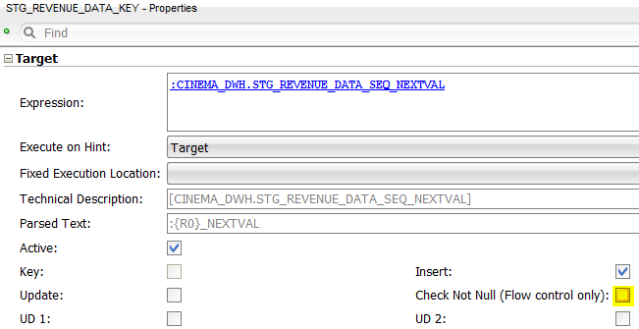 ODI Sequences Check Not Null