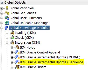 ODI Sequences IKM Duplicate